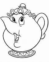 Teapots Coloring Template Whimsical Teapot Disney sketch template