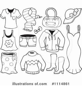 Clothes Black And White Clipart - Clipart Suggest