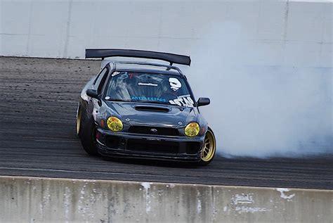 subaru wrx drifting justin woo 39 s quot backyard built quot ls swapped subaru wrx drift car