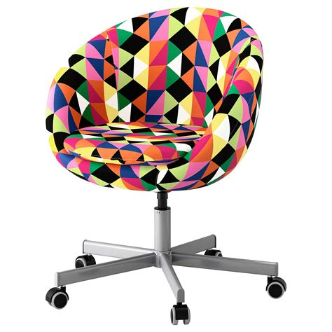 colorful desk chairs skruvsta swivel chair majviken multicolour ikea