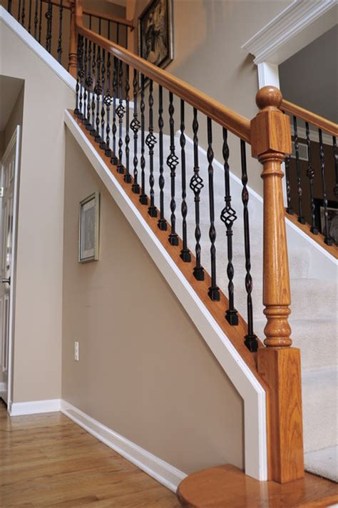 replacing a banister and spindles iron baluster upgrade