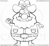 Miner Prospector Coloring Gold Cartoon Clipart Pages Waving Chubby Rush Outlined Vector Cory Thoman Regarding Notes Getcolorings Printable Discovery sketch template