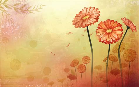 Flower Background Beautifully Illustrated Vector Flower Backgrounds