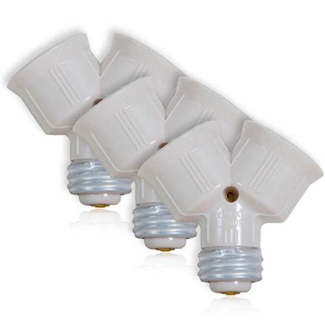 light bulb socket splitter for led cfl standard light