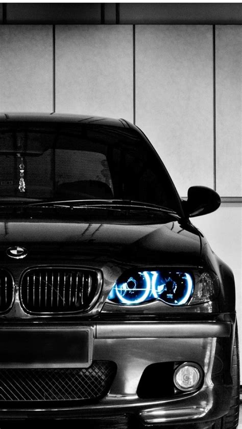 Bmw Black Wallpaper Iphone Car by Black Bmw Front Blue Led Iphone 6 Plus Hd Wallpaper Hd