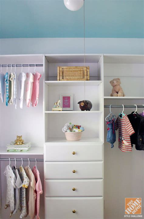 Closet Organization Ideas For A Nursery  The Home Depot