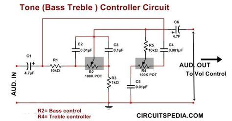 Bass Treble Controller Circuit Diagram Circuits