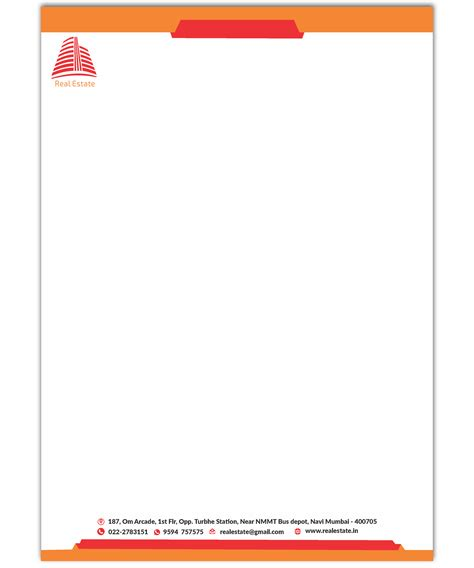 letterhead format  letterhead design  company