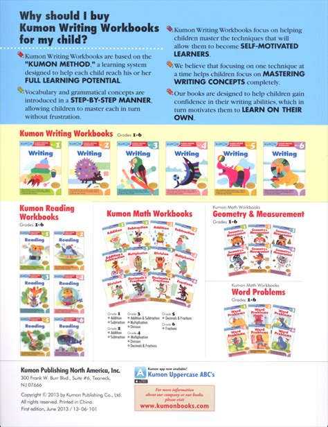 Kumon Writing Workbook Grade 3 (028790) Details  Rainbow Resource Center, Inc