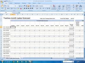 Financial Forecast Template Excel by Financial Templates 12 Month Sales Forecast1
