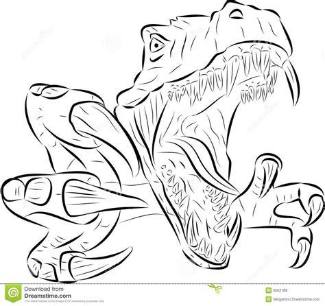 T Rex Vector Stock Vector Image Of Danger Fear Jurassic