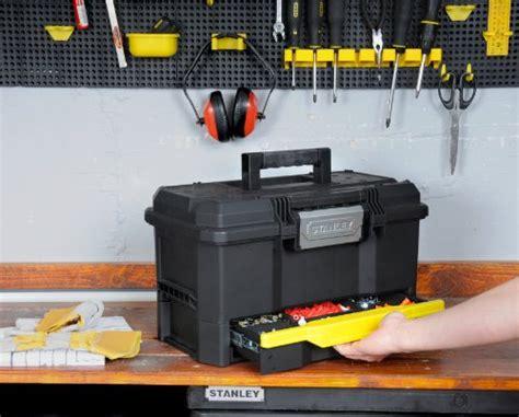 werkzeugkiste leer kunststoff stanley werkzeugkiste leer aus kunststoff 1 70 316 werkzeugkoffer mit integrierter schublade