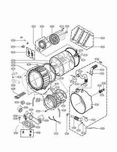 Drum And Tub Assembly Parts Diagram  U0026 Parts List For Model 79642198900 Kenmore