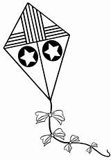 Kite Coloring Pipa Colorir Kites Drawing Desenho Sheets Template Colorear Clipart Cometas Dibujos Pintar Estrelas Desenhos Imprimir Como Yahoo Designlooter sketch template