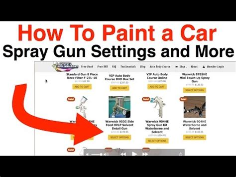 How To Paint A Car  Spray Gun Psi Setting And More!  Youtube