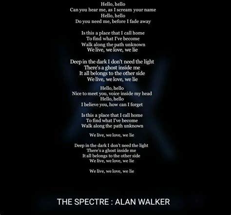 alan walker lyrics spectre song songs uploaded user