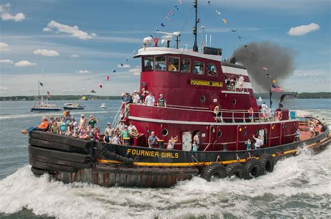 Tugboat Photography by Tugboat Muster Events Maine Editorial Photographer