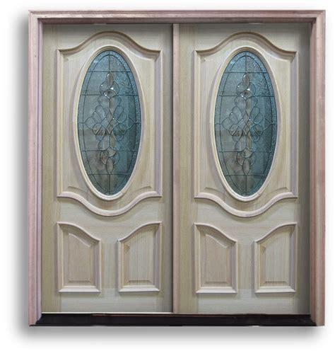 oak exterior door  oval  black caming