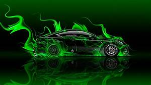 Lexus RC-F Side Super Fire Flame Abstract Car 2016