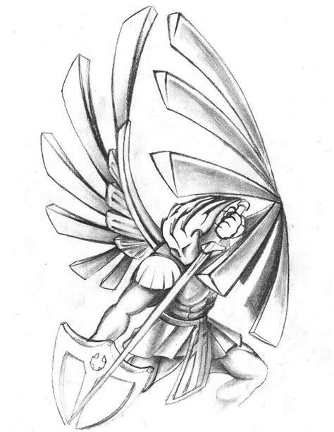 St Michael Tattoo Drawings | Saints warrior tattoo design