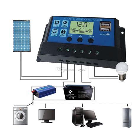 Dual Usb Solar Panel Battery Regulator Charge