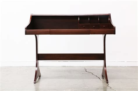 mid century writing desk mid century modern walnut writing desk by kroehler