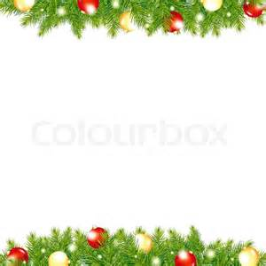 Ornaments For Fireplace by Xmas And Happy New Year Border Vector Illustration