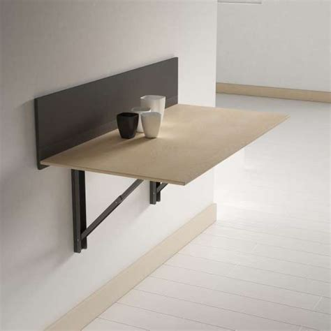table de cuisine retractable table pliante murale contemporaine click 4 pieds