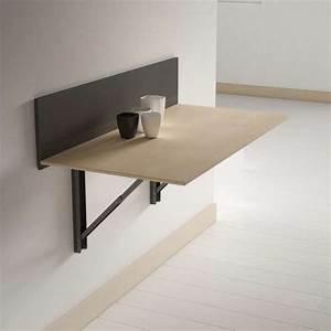 Table Chevet Murale : table pliante murale contemporaine click 4 ~ Teatrodelosmanantiales.com Idées de Décoration