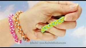 Bracelet Avec Elastique : bracelets br siliens en lastiques faire avec les doigts facile youtube ~ Melissatoandfro.com Idées de Décoration