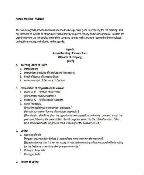 agenda format templates  premium templates