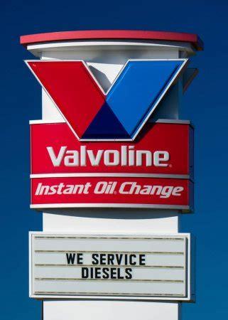 valvoline instant oil change exterior  logo stock