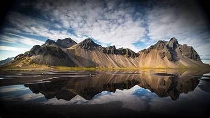 Iceland Wallpapers Reflection Stokksnes Mountain 1920 1080