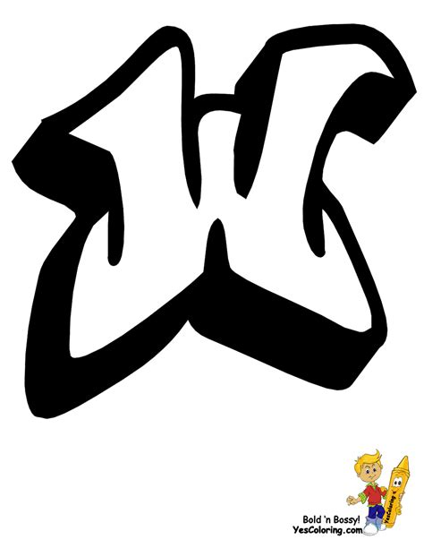 graffiti letter a big graffiti alphabet free learning letters 15352