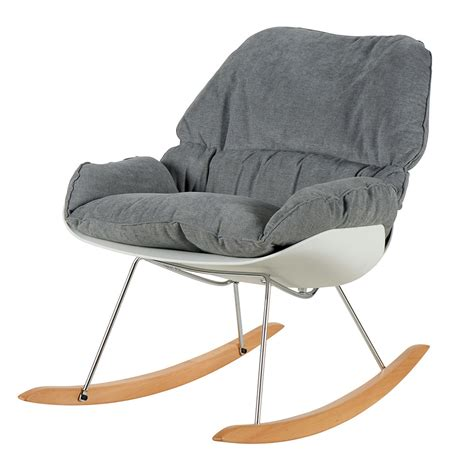 fauteuil à bascule scandinave fauteuil island gris et blanc 224 bascule d inspiration
