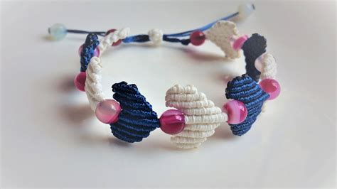 macrame bracelet tutorial  heart string easy