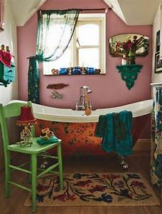 45, Alluring, Bohemian, Bathroom, Designs, That, Make, The, Space