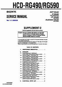 Sony Hcd-rg490  Hcd-rg590  Mhc-rg490s  Mhc-rg590s Service Manual