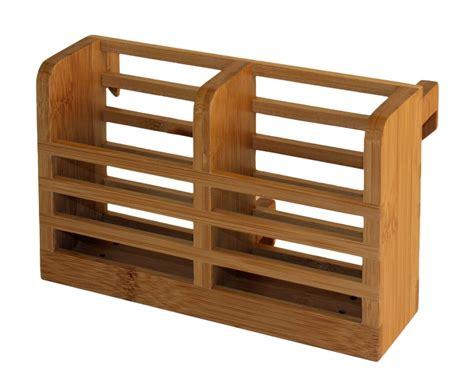bamboo utensil holder beautiful  functional addition   kitchen tool box