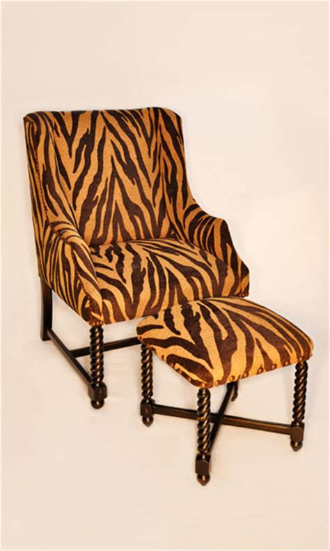 zebra print chair and ottoman clark antiques gallery