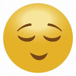 Calm emoji emoticon - Transparent PNG & SVG vector