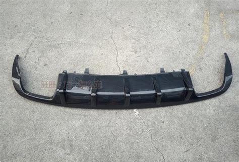 carbon fiber rear bumper lip spoiler diffuser cover for audi audi a6 a6l c7 s6 s line 2009 2012