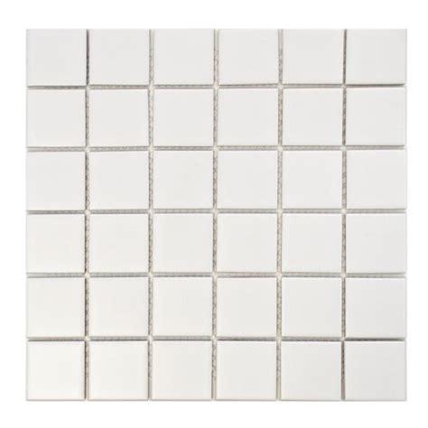 retro square 2 matte white 12 1 4 x 12 1 4 inch porcelain