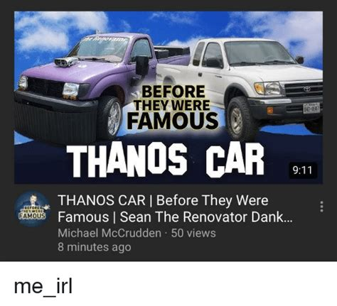 Before They Were W29587 Famous Thanos Car Thanos Car