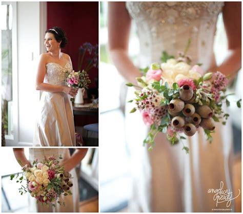 australian native wedding bouquet gum nuts gum leaves