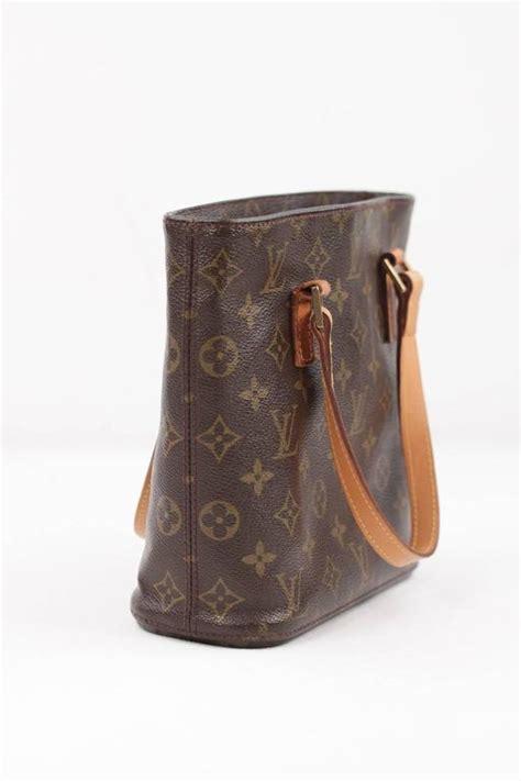 louis vuitton brown monogram canvas vavin pm tote handbag small bucket purse  stdibs