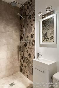 les 25 meilleures idees de la categorie carrelage wc sur With carrelage adhesif salle de bain avec par 64 led