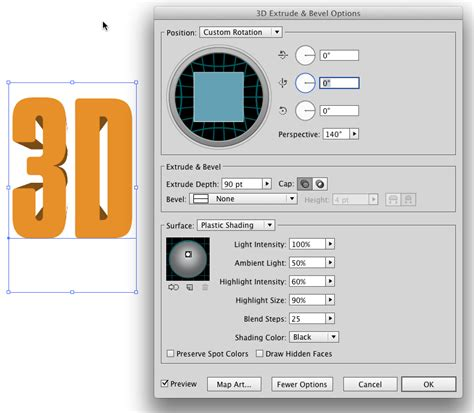 3d  How To Create Text Extruding From The Center With