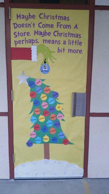 Pinterest Grinch Christmas Door Decorations Classroom