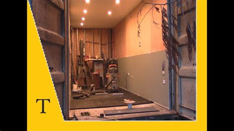 shipping container conversion series video  insulation